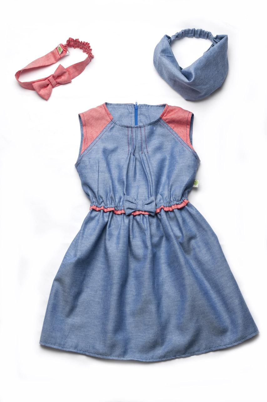 Платье из джинсов для девочки