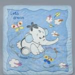 Одеяло детское голубое