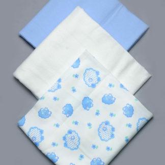 Комплект байковых пеленок для мальчика 3 шт.