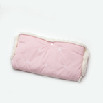 Муфта для коляски на овчине розовая