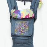 """Кенгурушка эргономичный рюкзак-переноска для детей """"Цветочная геометрия"""" купить с доставкой по Украине"""