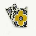 """Накладки для сосания гигиенические """"Цветочная геометрия"""" серый с желтым"""